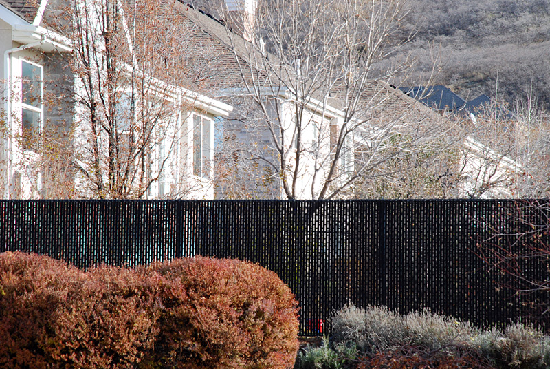 pleasant grove residence yellow chainlink alpine residence black wire and tube slats - Chain Link Fence Slats
